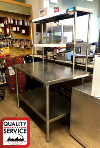 Commercial Stainless Steel Work Table With Drawers shelves 48 X 30