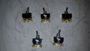 Lot Of 5 Cole Hersee 2 Position Toggle Switch 5590 1009r