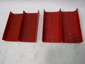 Used Lot 16 Lista X1646 Slotted Groove Trays Divider 6 X 6 X 1 B
