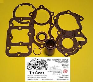 Np205 New Transfer Case Sm465 10 Spline Adapter Coupler Gasket Seal Kit