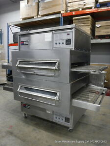 Middleby Marshall Ps360wb 2 Gas Double Stack Conveyor Pizza Oven Wide Body