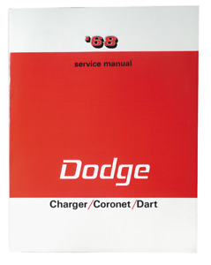 1968 Dodge Charger coronet dart Service Manual Reprint