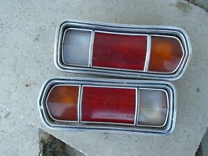1978 Amc Amx Right Side Tail Lights Pair