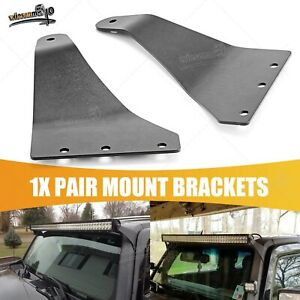 Hummer H3 Upper Roof Windshield Off Road Pair Brackets For 50 Led Light Bar
