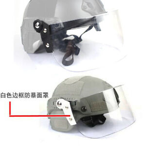 Paintball Airsoft Tactical Face Shield Lens Mask Goggles for Mich FAST Helmet