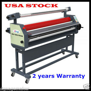 Us Stock 110v 63 Full auto Roll Heat Assisted Wide Format Cold Laminator
