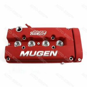 New Mugen Style Engine Valve Cover For 1999 2000 Honda Civic Si Dohc Vtec Red