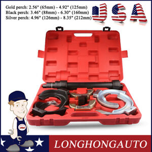 Multi Use Macpherson Interchangeable Fork Spring Compressor Tool Kit 3 Sets Jaws