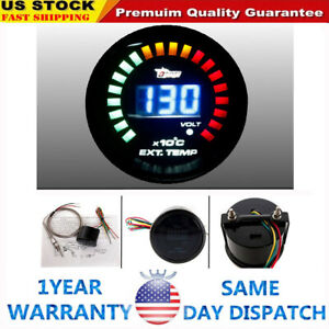2 52mm Led Digital Auto Car Egt Exhaust Gas Temp Temperature Gauge Meter Analog