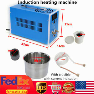 2450w Zvs Induction Heater Heating Machine Metal Melting Furnace Weld W crucible