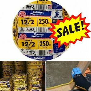 Southwire Romex 250ft 12 2 Awg Non metallic Cable Copper Electrical Wire Nm b