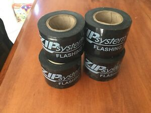 Four 4 Rolls Of Zip System Flashing Tape
