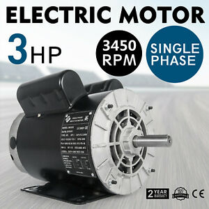 3 Hp Electric Motor 56 3450 Rpm Single Phase Farm Duty 1 Phase