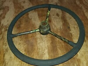 1939 John Deere H Steering Wheel Good Original Stepped Hub Round Spoke