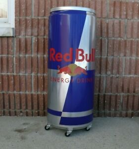 Red Bull Can Fridge Electric Cooler In Very Good Condition Perfect For Man Cave