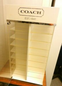 Coach Eyeglass Sunglasses Glasses Rotating Countertop Display Case 36 Shelves