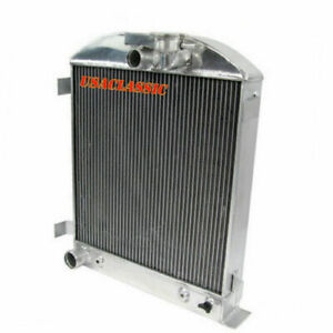 4row Aluminum Radiator For 1932 Ford Hi Boy Hotrod Grill Shells Ford Engine Us