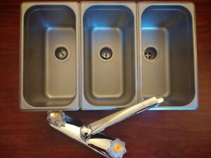 Standard 3 Compartment Sink Set For Portable Concession Sinks