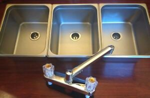 Large 3 Compartment Sink Set For Portable Concession Sinks