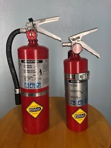 Detech By Buckeye New Old Lot Of 2 Fire Extinguishers 10 Lb 5lb Pair