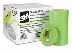 3m 26334cs Scotch 233 Green Automotive Masking Tape 3 4 X 55m 48 Rolls
