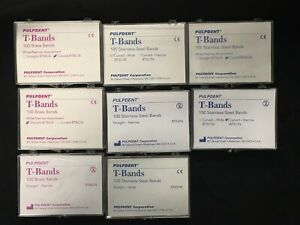 3 X Dental Matrix T band Stainless Steel Bands Straight Narrow 100 pkg btss n