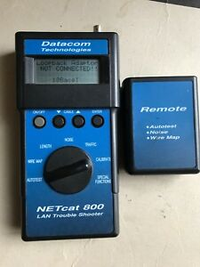Datacom Netcat 800 Lan Troubleshooter Cable Tester W Remote