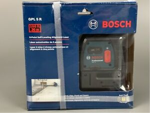 Bosch Gpl 5 R Professional 5 point Alignment Self Leveling Laser Level New