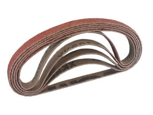 3 8 Inch X 13 Inch Ceramic Cloth Sanding Air File Belts 10 Pack 80 Grit