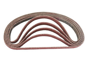 1 2 Inch X 18 Inch Ceramic Cloth Sanding Air File Belts 10 Pack 80 Grit