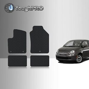Toughpro Black Rubber Heavy Duty Custom For 2011 2017 Fiat 500 Floor Mats