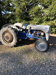 1940 s Ford Tractor With Disc Box Scraper Ridger And Chain Drag