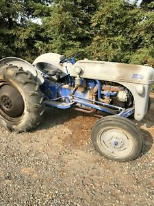 Old Ford Tractor 1940 s Model Runs Great Comes With 4 Attachments