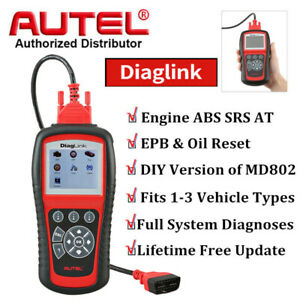 Autel Diaglink Obd2 Scanner Diagnostic Scan Tool Epb Oil Reset Clear Code Reader