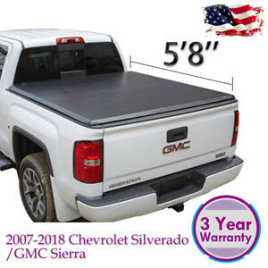 For 2007 2013 Chevy Silverado Gmc Sierra 1500 5 8ft Bed Roll Up Tonneau Cover