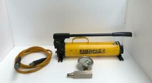 Enerpac P80 Ultima Hydraulic Hand Pump 700 Bar 10 000 Psi With Accessories