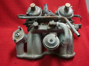 Triumph Tr 7 Dual Zenith 175cd Carburetors With Intake Manifold As Removed