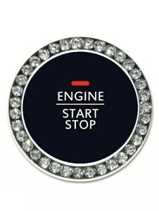 Bling Diamond Car Start Engine Ignition Button Decor Ring Cover Crystal Sticker