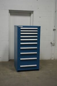 Used Vidmar 10 Drawer Modular Cabinet Industrial Tool Storage 1649