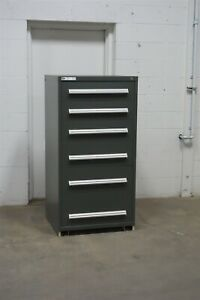 Used Stanley Vidmar 6 Drawer Cabinet Industrial Tool Storage 1644
