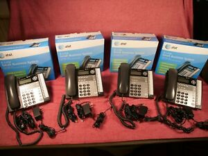 Lot Of 4 At t 1070 Small Business Phone 4 line Used Compatible With 1040 1080