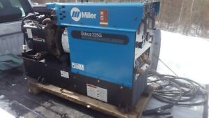 Miller Bobcat 225g Gas Welder 8000w Generator Onan Powered With Cover And Leads