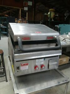 Lang 24 Gas Griddle W Clamshell Broiler