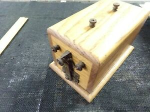 Hitt And Miss buzz Coil Wood Box Very Hot Spark Box In Good Condition 3