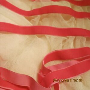 Vintage Velvet Ribbon Awesome Candy Pink Antique Doll Millinery 36 6 8 Wd Vr