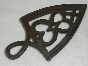 Antique Cast Iron Trivet C Late 1800 S Possibly Perin Graf Iron Stand Vgc