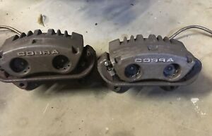 94 04 Ford Mustang Cobra Svt Front Brake Calipers And Brackets Steal Braided Lin