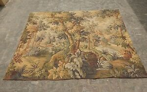 Stunning Large Vintage French Aubusson Style Verdure Tapestry 181x143cm A1233