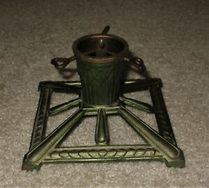 Small Antique Victorian Germany Cast Iron Christmas Tree Stand Orig Paint