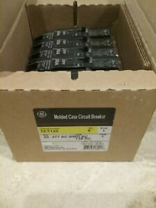 New In Box Ge Tey120 Molded Circuit Breaker 6 Pack single Pole 20a 277vac 125dc